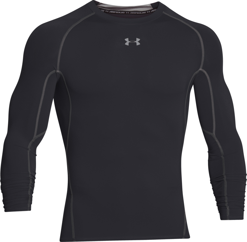 Under Armour Heren HeatGear� Armour Lange Mouw Compressie Shirt Zwart