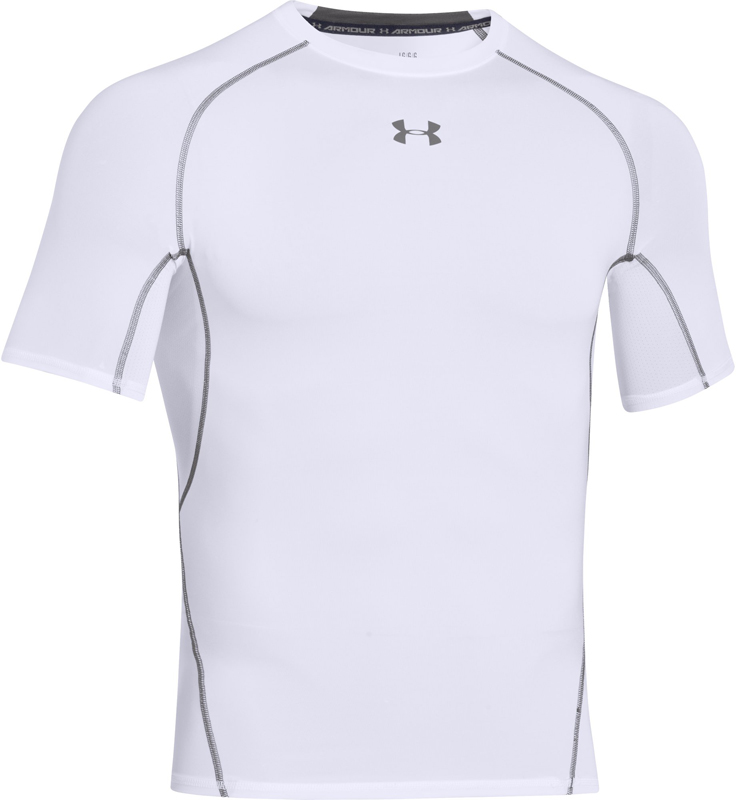 Under Armour Armour Heatgear Shortsleeve Herren Trainingsshirt S grijs