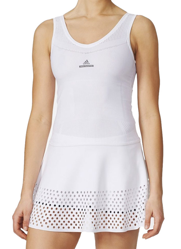 Adidas Stella McCartney Barricade Dames Tennis jurk (wit-grijs) L (40)