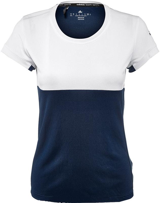 adidas T16 Tee Dames White-Dark Blue S