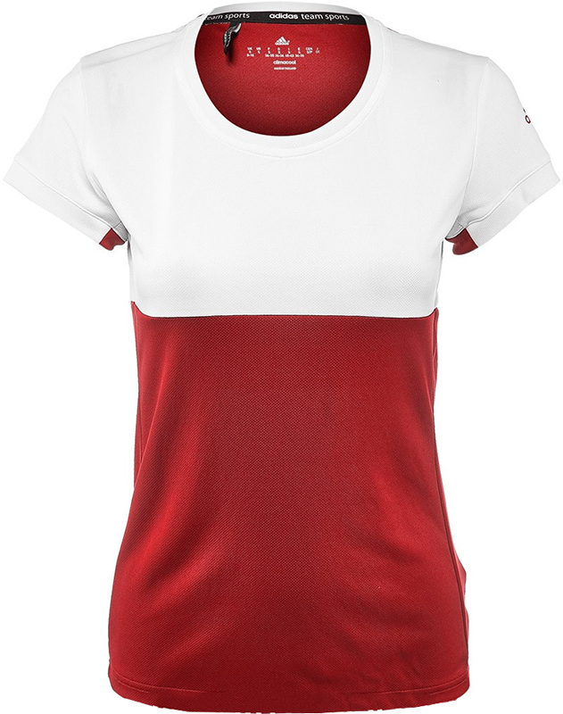 adidas T16 Tee Dames White-Red XL