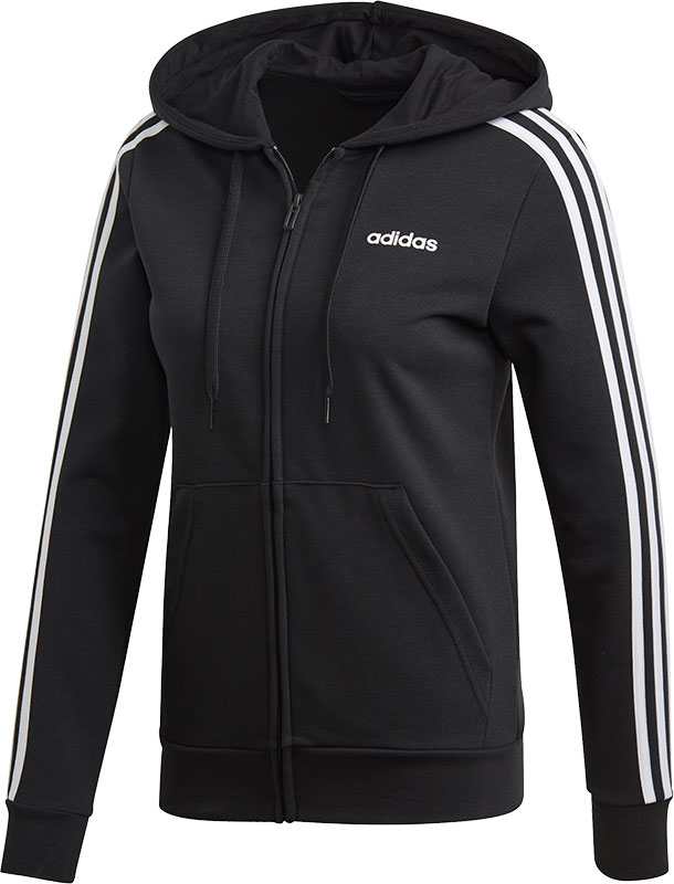 adidas Essentials 3 Stripes Full Zip Hoodie Dames