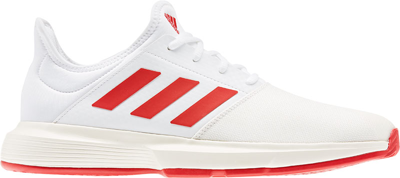adidas Performance GameCourt M tennisschoenen wit-rood