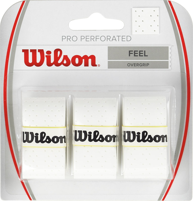 Wilson Pro Overgrip Perforated 3 Stuks (wit)