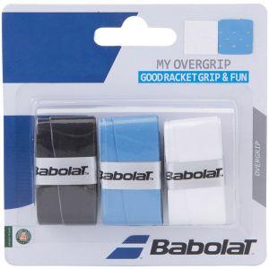 Babolat My Overgrip 3 St. Zwart, Wit en Blauw
