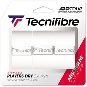 Tecnifibre Players Dry Overgrip 3 St. Wit