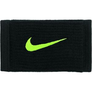 Nike Dri-Fit Reveal Double Wide Wristbands Zwart/Geel