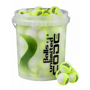 Balls Unlimited Code Green White Bag + Ball Bucket 60 Stuks