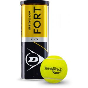 Dunlop Fort Elite TennisDirect Logo Bal 3 st.