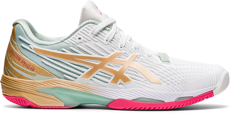 ASICS Tennisschoenen voor dames gel solution speed wit/goud online kopen