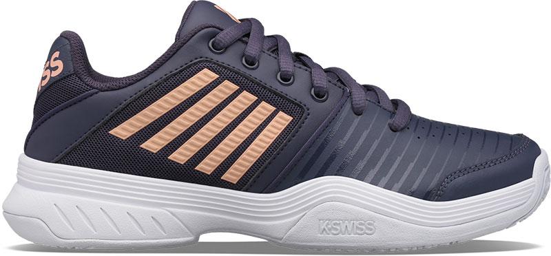 K-SWISS Tennisschoen junior court express omni dark shadow white swedish blue online kopen