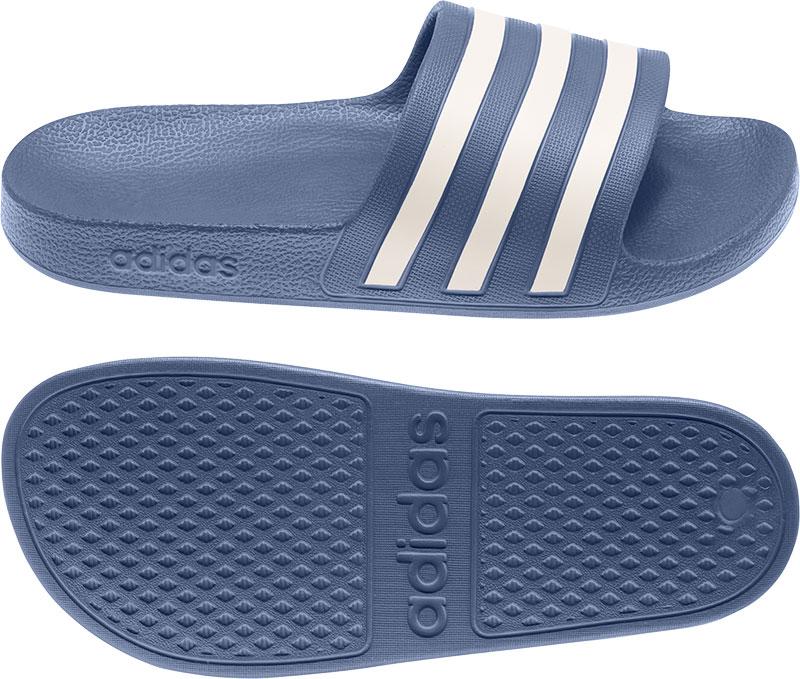 Adidas Performance Adilette Aqua badslippers donkerblauw/wit online kopen