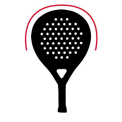 Padel racket rond